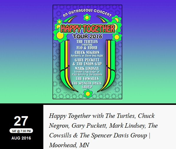 Happy Together Tour Cowsills Kentucky State Fair