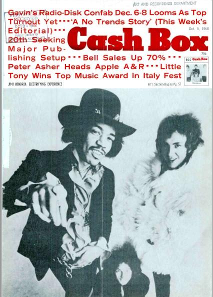 Cashbox Magazine October 12, 1968 Gary Lewis on Cover